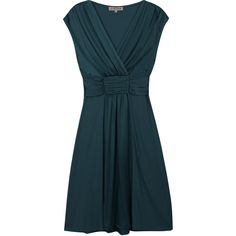 Pleated Silk Tie Dress ($185) ❤ liked on Polyvore featuring dresses, vestidos, blue dress, silk cocktail dress, pleated party dress, v neck cocktail dress et holiday party dresses