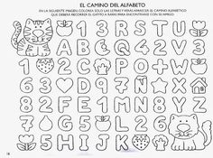 Learning Spanish, Kids Learning, Alphabet, Welcome Back To School, School Resources, Kindergarten Worksheets, Writing Skills, Speech Therapy, Easy Drawings