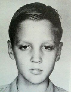Elvis Presley as a child
