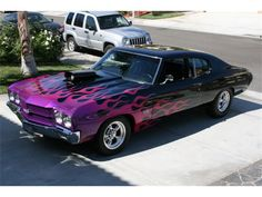 1970 Chevelle 454 SS purple/pink flames