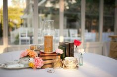 Boho Chic Classic Eco Friendly Romantic Rustic Shabby Chic Vintage Gold Ivory Multicolor Pink Red Silver White Yellow Centerpiece Centerpieces Decor Rose Wedding Reception Photos & Pictures - WeddingWire.com
