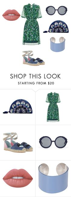 """""""What about green and blue navy?"""" by trixievogue on Polyvore featuring Kate Spade, Chiara Ferragni, Preen, Lime Crime and Maison Margiela"""