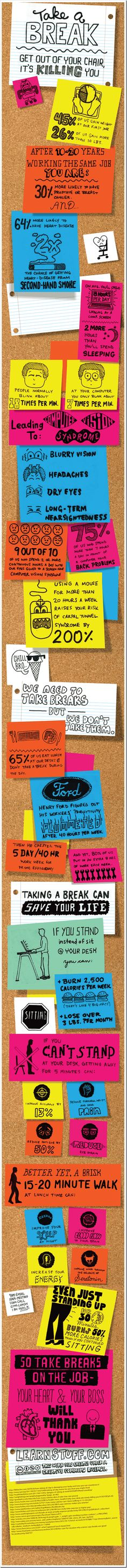 Take a Break at your Work, It's a Life-saver [Infographic]