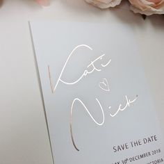 Real Rose Gold Foil Save the Date, Rose Gold Save the Date, Hot Foil Save the Date, Rose Gold Stamped Save The Date, Blush Cards. We Do Card : Real Rose Gold Foil Save the Date Rose Gold Save the Date Unique Wedding Save The Dates, Foil Save The Dates, Save The Date Cards, Unique Weddings, Gold Wedding Invitations, Wedding Stationary, Wedding Cards, Gold Wedding Stationery, Wedding Verses