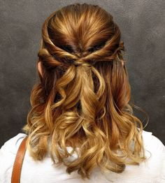 Twisted Half Up Hairstyle For Medium Hair