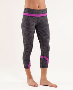 My all-time fav. running pants - lululemon inspire crops, love this print/color