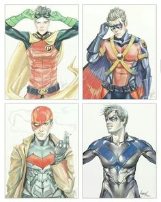 The Robins Damien Wayne Tim Drake Jason Todd Dick Grayson