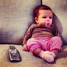 Watching TV like a boss