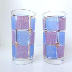 Mid Century Modern Retro Purple & Periwinkle by LaGypsyYaya, $22.00