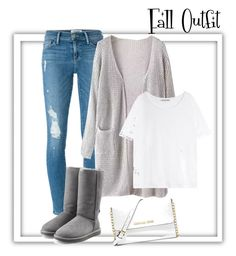 """""""Fall Outfit"""" by lexy200105 ❤ liked on Polyvore featuring Frame Denim, Acne Studios, UGG Australia and MICHAEL Michael Kors"""