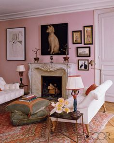 Fall Fashion 2013 at Home: Pastel Pink - ELLE DECOR