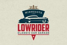 Classic Car Garage Logo by g design on @creativemarket