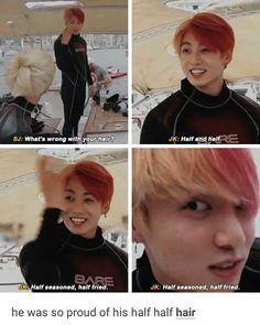 Oh look, It's todoroki - Bts Funny - Baby Hair Jung Kook, K Pop, Bts Bangtan Boy, Jimin, Jungkook Funny, Bts Taehyung, Bts Memes Hilarious, Bts Tweet, Vkook