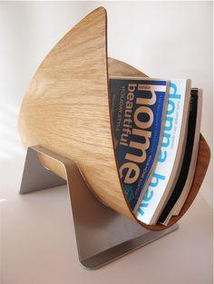 bent plywood magazine rack