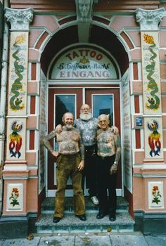 The tattoo legends Herbert Hoffmann, Karl Richter and husband Albert Cornelissen…