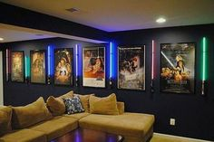 More ideas below: DIY Home theater Decorations Ideas Basement Home theater Rooms Red Home theater Seating Small Home theater Speakers Luxury Home theater Couch Design Cozy Home theater Projector Setup Modern Home theater Lighting System Home Theater Lighting, Home Theater Seating, Home Theater Design, Home Theatre, Movie Theater Rooms, Home Cinema Room, Basement Movie Room, Theater Room Decor, Movie Rooms