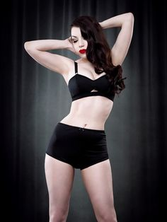 Van Doren Pin Up Knicker — Kiss Me Deadly. These are sheer at the back, simple, love it. Retro Lingerie, Luxury Lingerie, Black Lingerie, Kiss Me Deadly, High Waisted Briefs, Lingerie Shoot, Bra And Panty Sets, Dark Fashion, Black Trim