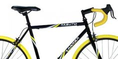 Black and gold, cool Takara Kabuto Single Speed Road Bike