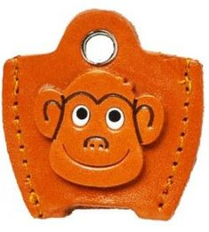 Leather Key Cover Cap Keychain Monkey