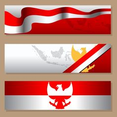 Indonesia Independence Day Simple Blank Banner Set Blank Banner, Flag Country, Indian Flag, Photoshop Design, Prints For Sale, Banner Design, Card Templates, Iphone Wallpaper, Simple