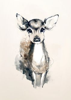 Deer art- I am going to get myself a deer, a fox...and something else woodlandy and adorable.