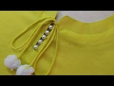 Latest and Easy Neck Design for Kurti/Suit Cutting and Stitching - YouTube Churidhar Neck Designs, Salwar Neck Designs, Churidar Designs, Kurta Neck Design, Neck Designs For Suits, Neckline Designs, Blouse Neck Designs, Sleeve Designs, Neck Design For Kurtis