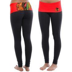 Women's Chicago Blackhawks Black Sublime Leggings