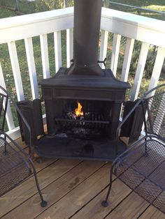 Awesome Franklin Stove On My Deck.