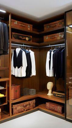 modern Minimalist Walk-in Closet Innovative Design, Cabina Armadio by Porro