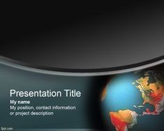 Global Warming PowerPoint Template for climate change PPT presentation, church powerpoint presentation, or world government presentation..