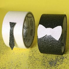 Duck® Brand black and white crafting glitter tape is perfect for any DIY craft project that needs a little sparkle without the mess. http://duckbrand.com/products/craft-decor/prism-glitter-tape/glitter-standard-rolls/aqua-188-in-x-180-in?utm_campaign=craft-tapes-general&utm_medium=social&utm_source=pinterest.com&utm_content=glitter-tape