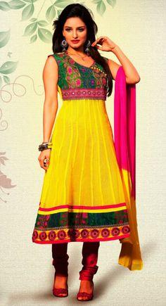 Charmer Yellow Color Readymade #Salwar #Kameez