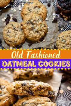 Easy Pie Recipes, Best Dessert Recipes, Cupcake Recipes, Cookie Recipes, Bar Recipes, Delicious Recipes, Old Fashioned Oatmeal Cookies, Best Oatmeal Raisin Cookies, Roll Cookies