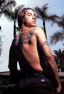 """Anthony Kiedis - Red Hot Chili Peppers, one of my oldest crushes. Also the ONLY exception I've ever made to my """"No Guys With Hair Longer Than Mine"""" rule."""