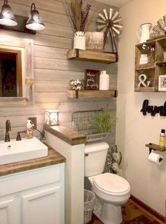 50 Beautiful Farmhouse Bathroom Ideas  #DecorIdeas