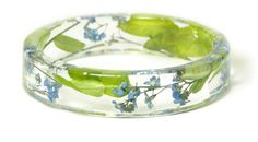 Flower Jewelry Real Flower Bangle Real Flower by ModernFlowerChild, $35.00