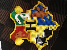 Harry Potter hama beads - break it up in quarters and have 4 kids work on it together