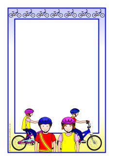 Cycling page borders Page Borders, Borders And Frames, School Border, Frame Background, Sports Day, Stationery Paper, Letter Templates, Portfolio, Drawing For Kids