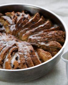 Gluten Free Bread Pudding with vanilla sauce