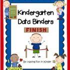 Kindergarten Data Binders - Kindergarten Data Notebooks - Common Core Aligned