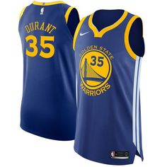 bbfc114d441b Nike Warriors  35 Kevin Durant Blue NBA Authentic Icon Edition Jersey  Warriors Merchandise