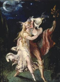 'The Fairy Lovers' by Theodore Von Holst. 1840