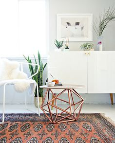 As implied by the name, occasional furniture, such as side tables, stools, and chairs, is used infrequently. Don't invest a chunk of money in these accent pieces that are more eye candy than substance. There are plenty of trendy occasional pieces from affordable retailers that you can swap in and out of your apartment to mix up your style.