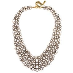 Women's Baublebar 'Kew' Crystal Collar Necklace ($68) ❤ liked on Polyvore featuring jewelry, necklaces, art deco necklace, golden necklace, beaded necklaces, sparkle jewelry and beading necklaces