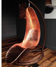 Amazing bronze swing chair.