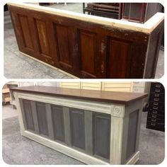 Salvaged Store Counters Used As Kitchen Islands Via