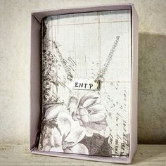 Custom order #entp personality type necklace #mbti #myersbriggs #sterlingsilver #etsy  Jennascifres.etsy.com