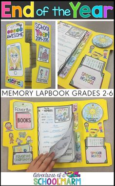 Looking for a fun End of the Year activities? This End of the Year Lap Book will be perfect for the last week of school before summer! It gives students a hands-on way to reflect on the school year and creates the perfect keepsake! Classroom Fun, Classroom Activities, End Of School Year, Middle School, Sunday School, End Of Year Activities, Memory Books, School Projects, Elementary Schools