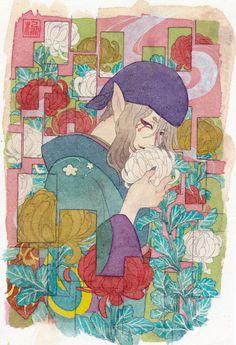 重陽の逢瀬/棚池 春 Manga Art, Anime Manga, Anime Art, Mononoke Anime, Horror Tale, Ghibli Movies, Adventure Time Anime, Me Me Me Anime, Traditional Art