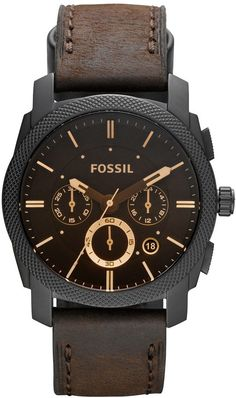 online shopping for Fossil Men's Analog Watch Brown Band from top store. See new offer for Fossil Men's Analog Watch Brown Band Herren Chronograph, Fossil Watches For Men, Cool Watches, Wrist Watches, Diesel Watches For Men, Casual Watches, Brown Leather Watch, Black Leather, Man Stuff